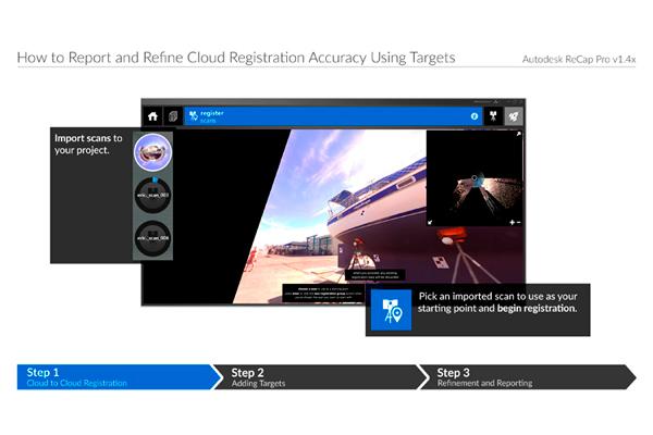 Увеличение точности регистрации облака точек в ReCap Pro