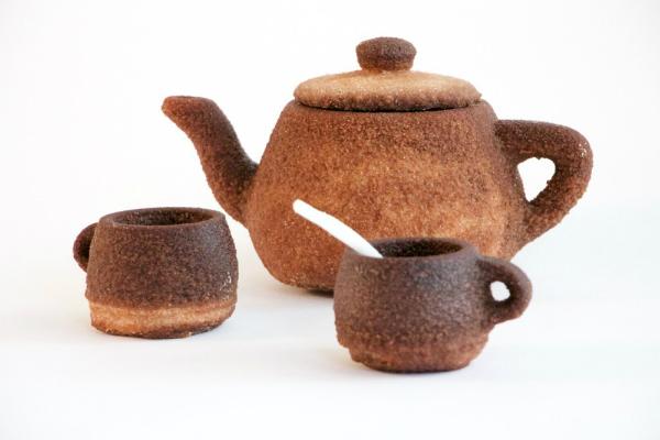 Чайник из сахара и чая на 3d принтере