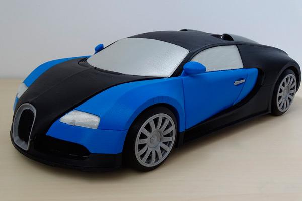 HBOT 3D создали модель Bugatti Veyron