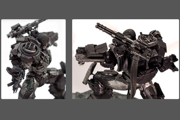 """3d печатная статуэтка костюма из кинофильма """"Железный Человек"""""""