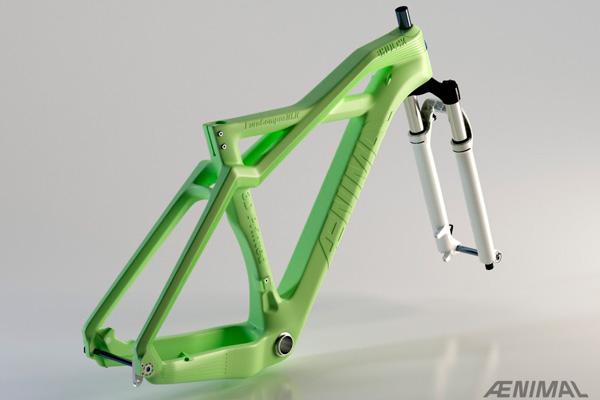 Велосипедная рама из PLA пластика