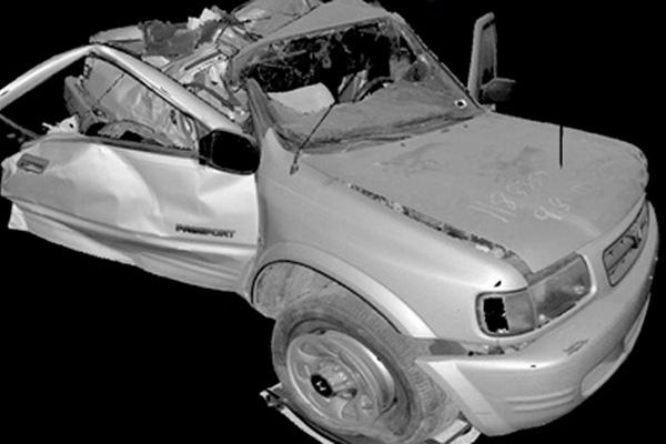 Отсканированый автомобиль после аварии