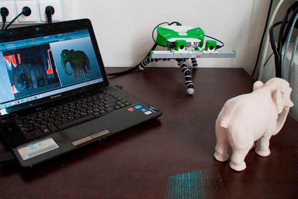 3d сканирование слона