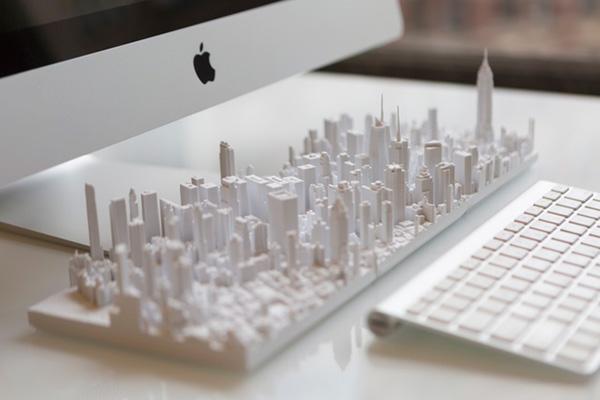 Уменьшенная копия Нью-Йорка при помощи 3d печати