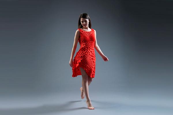 """Новое """"подвижное"""" платье от Nervous Systems"""
