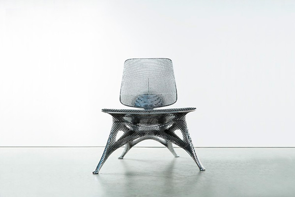 Напечатанный алюминиевый стул Йорис Лаарман