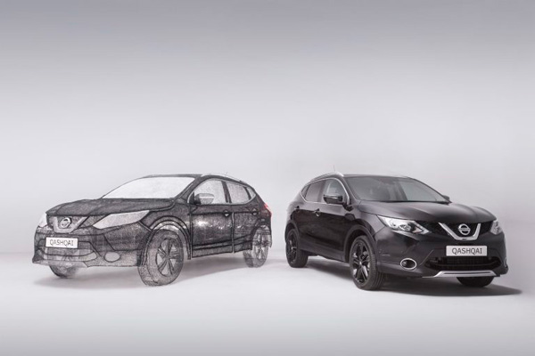 Nissan совместно с Грейсом Дю През представили самую большую скульптуру, созданную при помощи 3d ручки