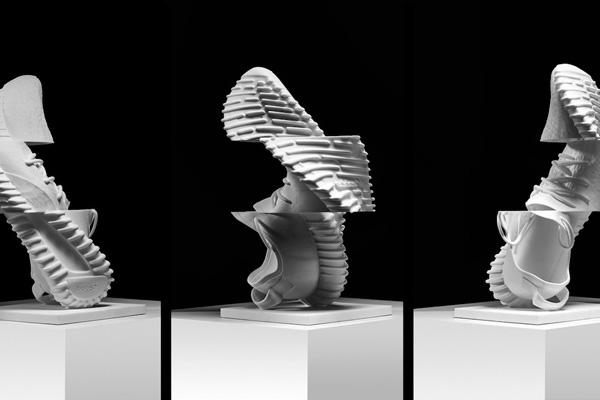 Художником Шейн Гриффин создал скульптуры на основе кроссовок Adidas