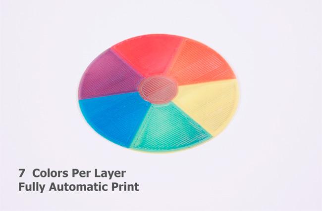 Новый 3d принтер способный печатать цветные изделия