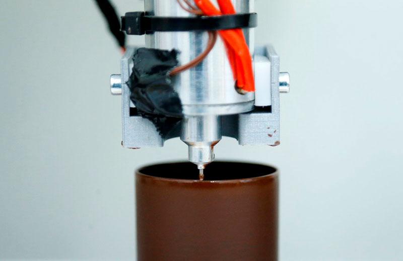 3d печать шоколадной бутылки