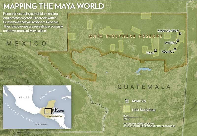 Карта города Майя