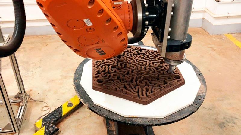 3d печать глиняной плитка